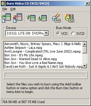 VCD Burning Software