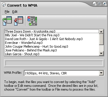 WMA Encoder Software
